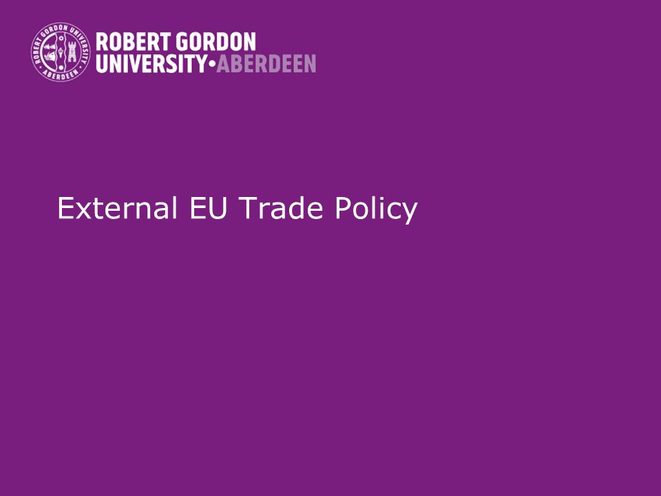 External EU Trade Policy
