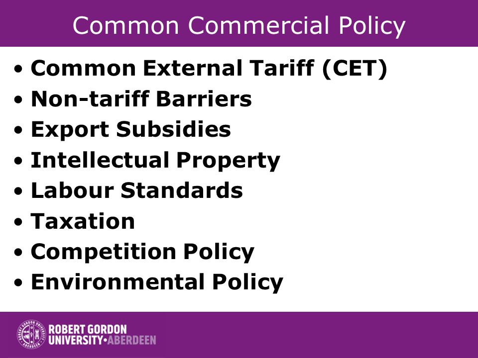 Common Commercial Policy