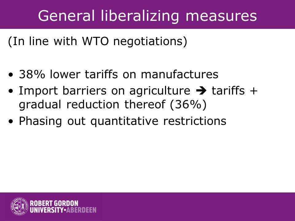 General liberalizing measures