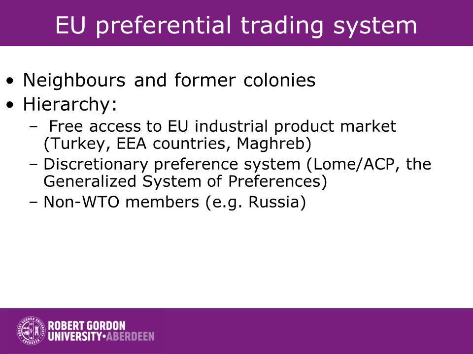 EU preferential trading system