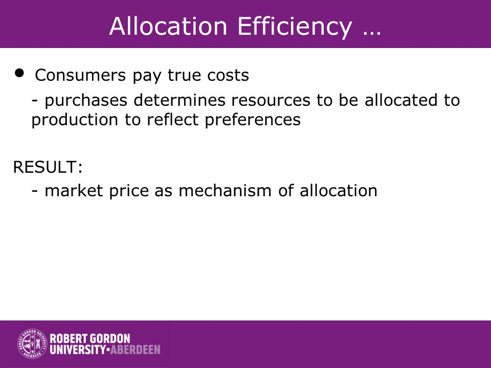 Allocation Efficiency …