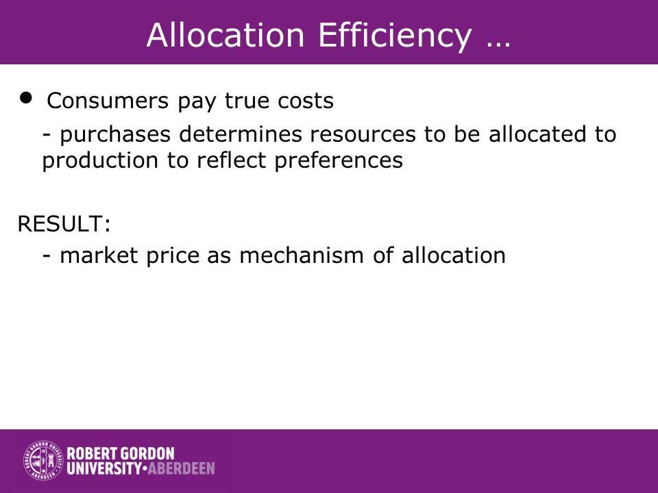 Allocation Efficiency …