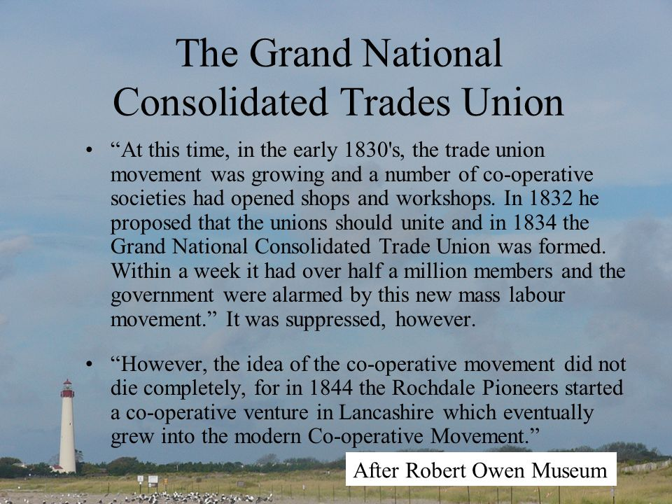 The Grand National Consolidated Trades Union