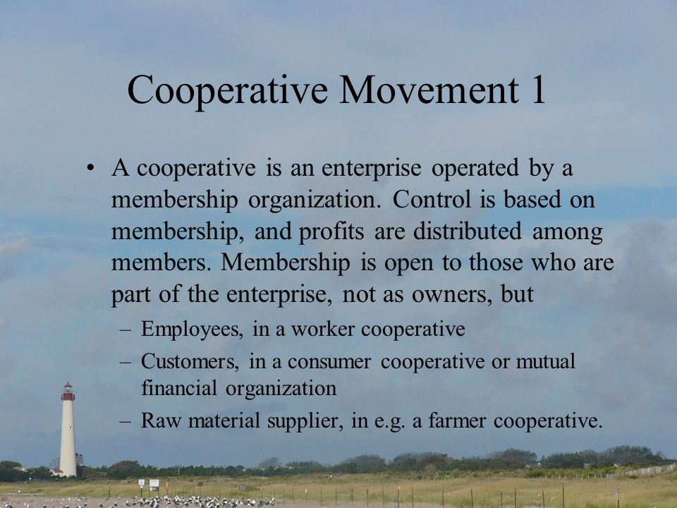Cooperative Movement 1