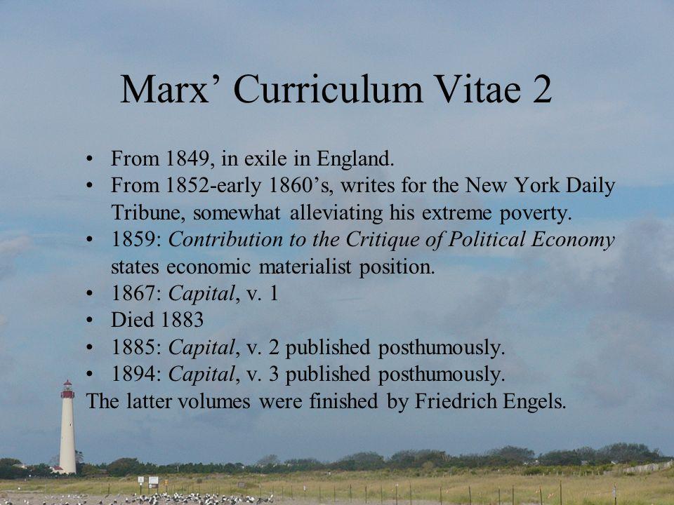 Marx' Curriculum Vitae 2