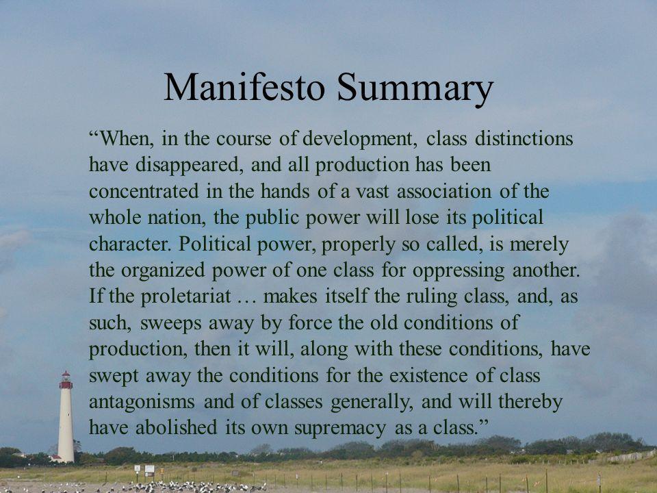 Manifesto Summary