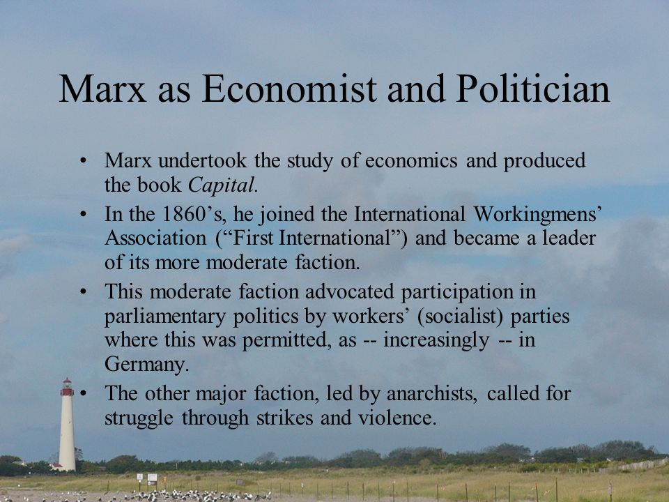 Marx as Economist and Politician