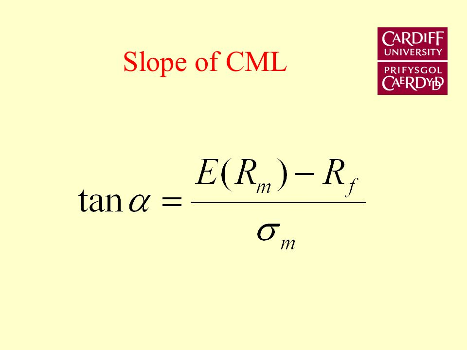 Slope of CML