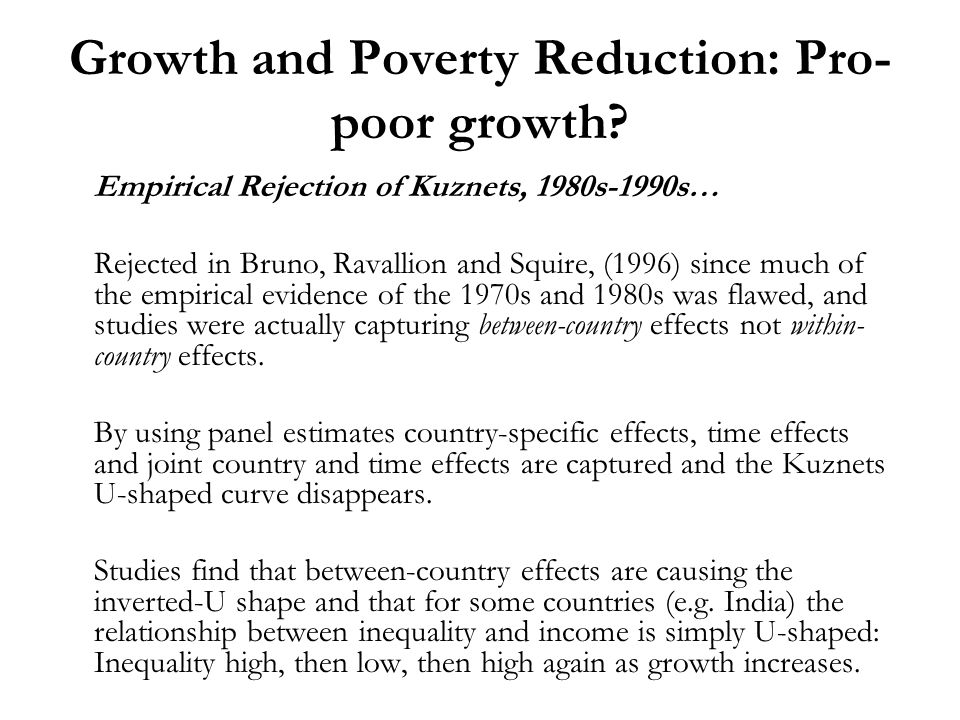 a normal relationship poverty growth and inequality