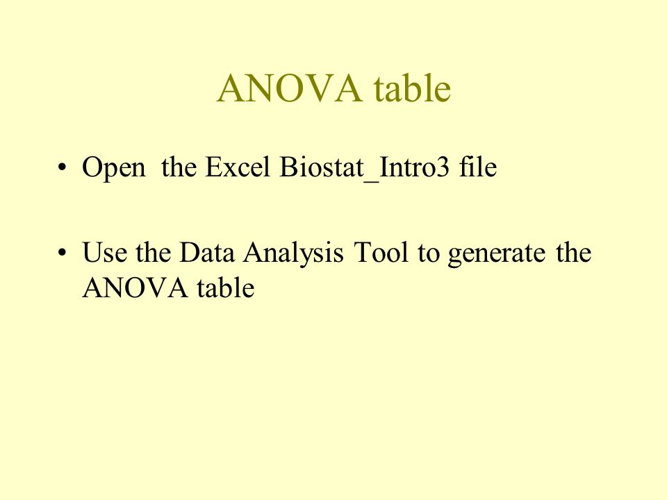 how to use anova in excel 2007