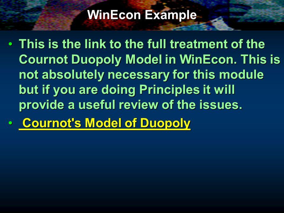 WinEcon Example
