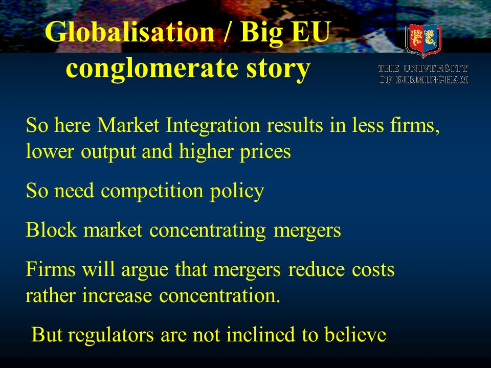 Globalisation / Big EU conglomerate story