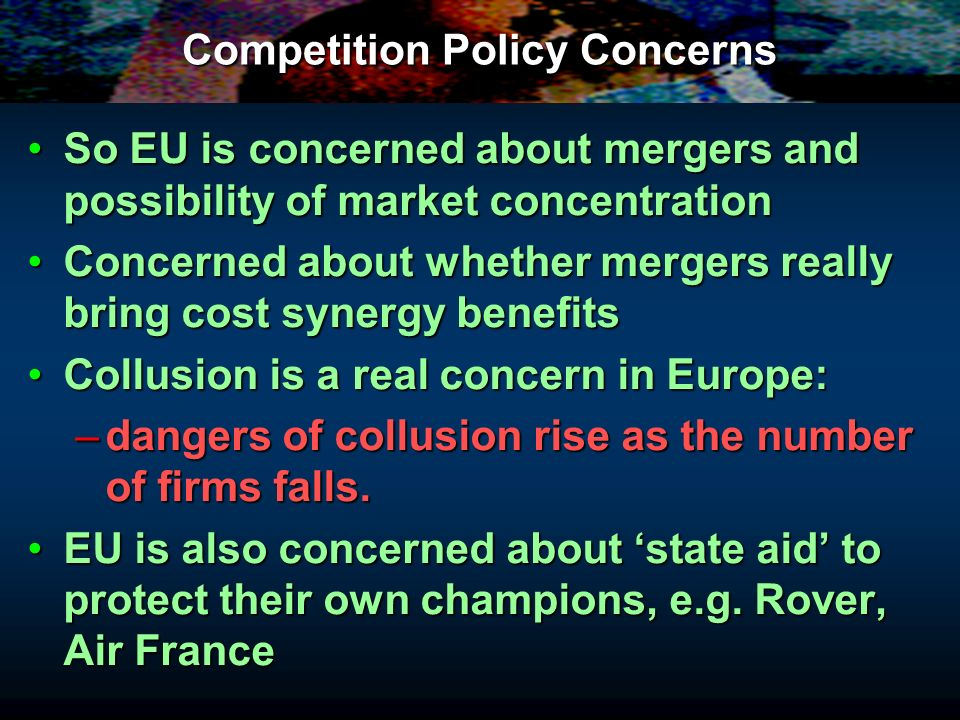 eu competition policy Read about eu competition policy fact sheets provide an overview of european  integration and the role of the european parliament.