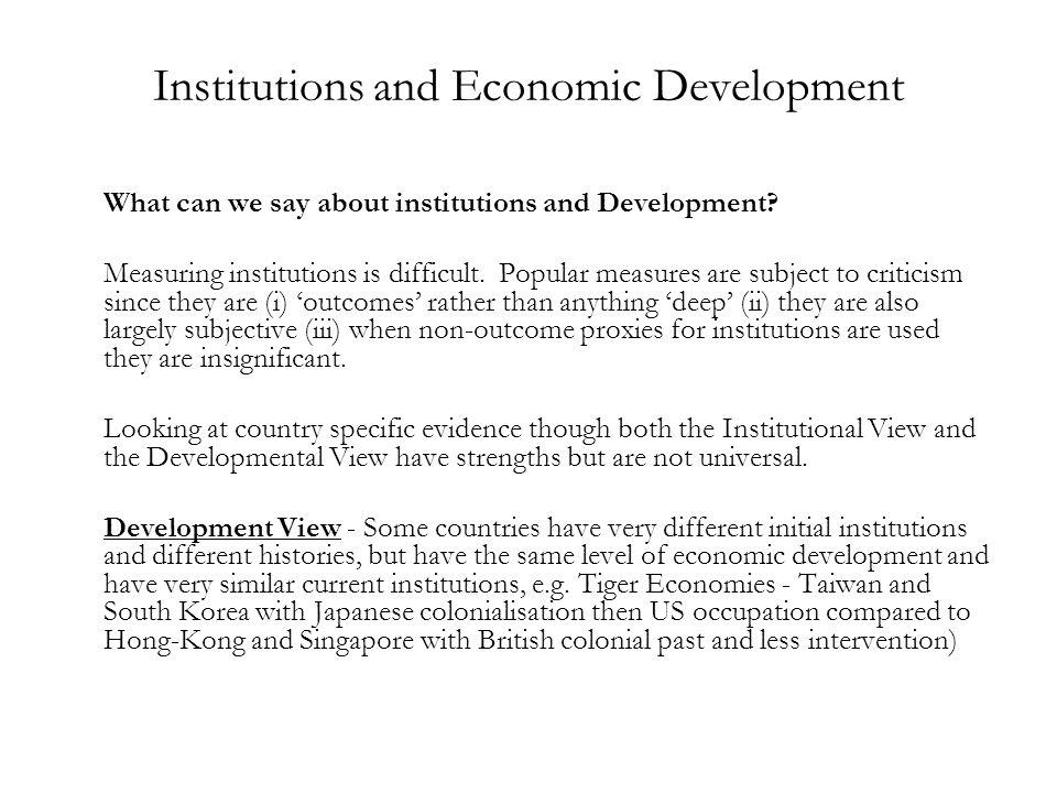 Institutions and Economic Development