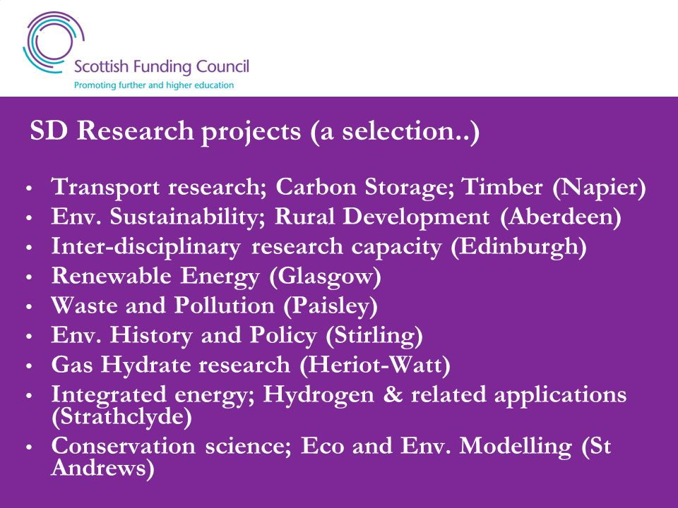 SD Research projects (a selection..)