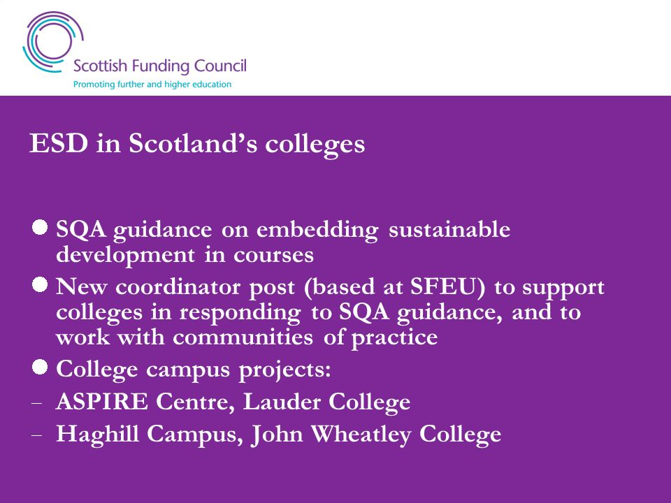 ESD in Scotland's colleges