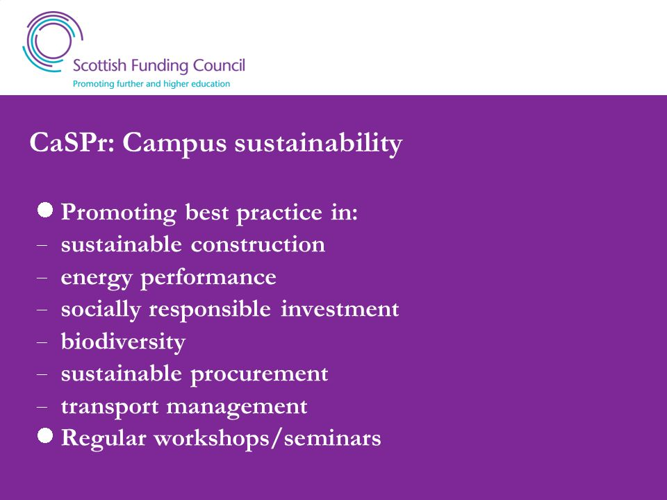 CaSPr: Campus sustainability