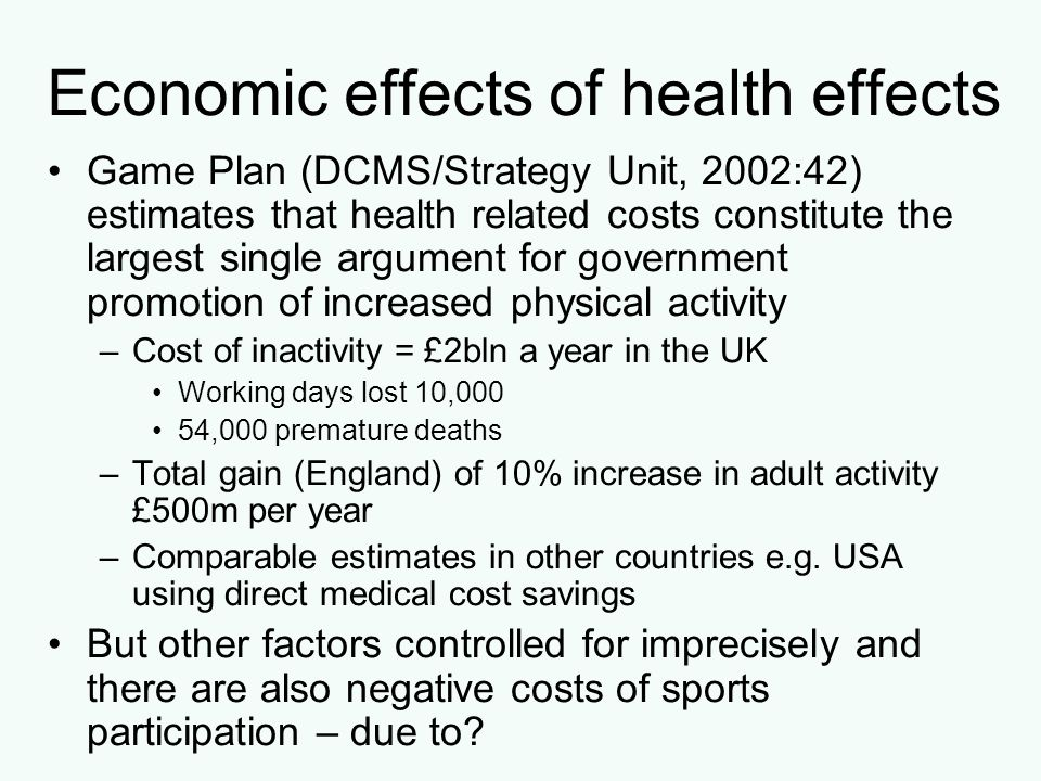 Economic effects of health effects