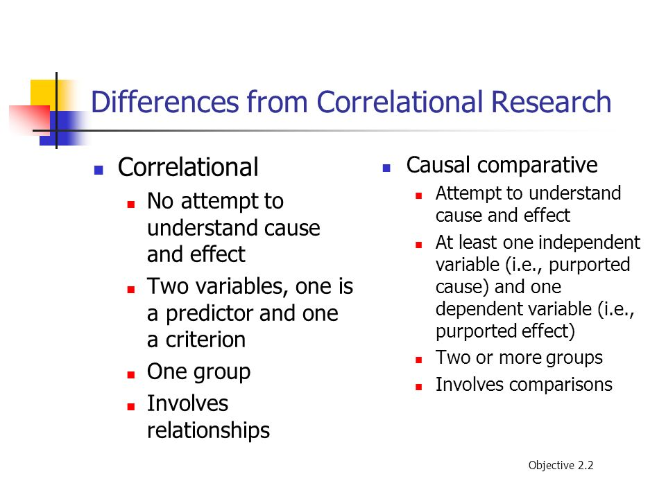 Differences from Correlational Research