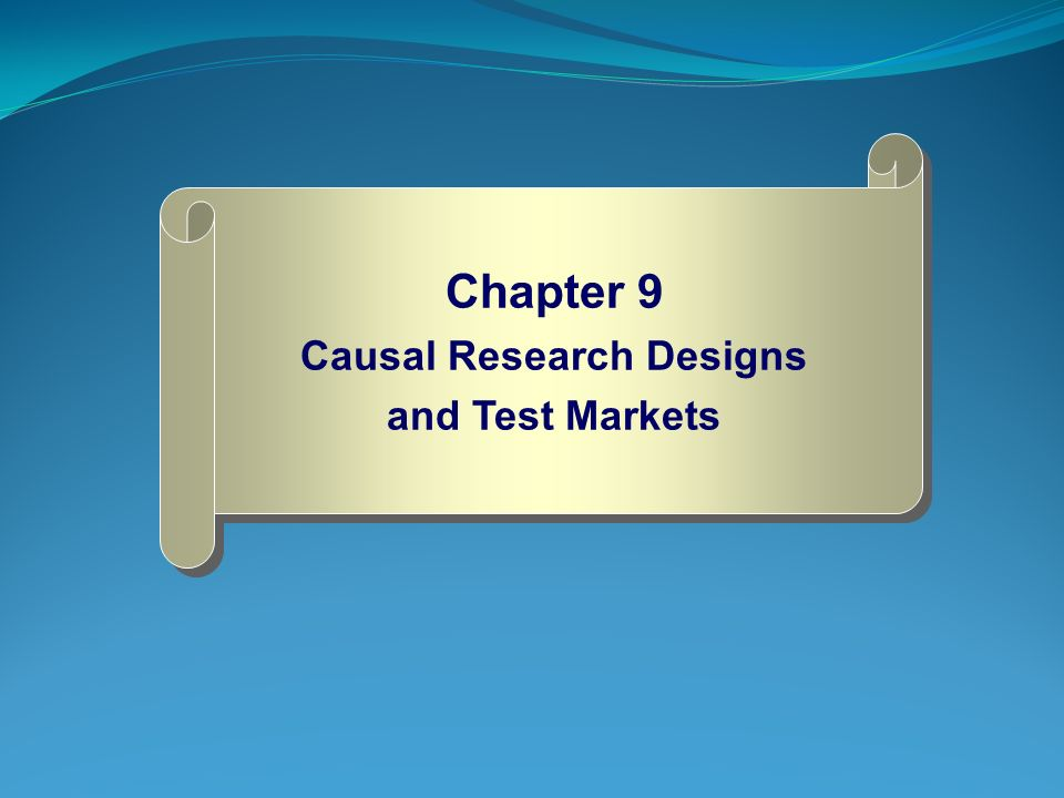 Causal research design definition