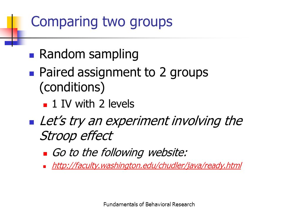 stroop extraneous variable Ch 1 introduction to research methods and statistics  what extraneous variables are the possibly not controlling well experimental methodology stroop (1935) say.