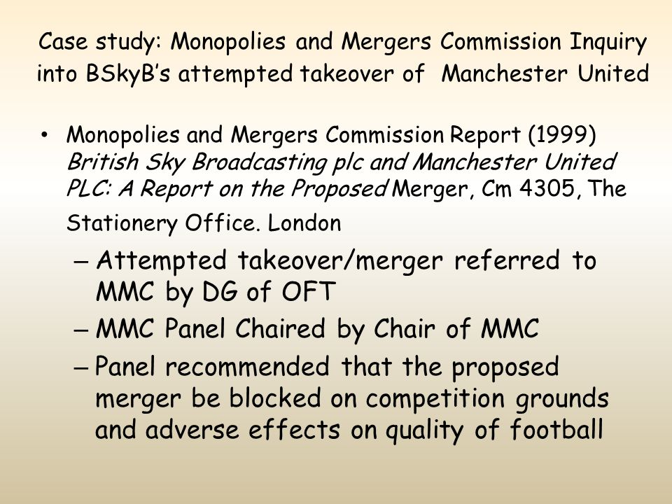 Attempted takeover/merger referred to MMC by DG of OFT