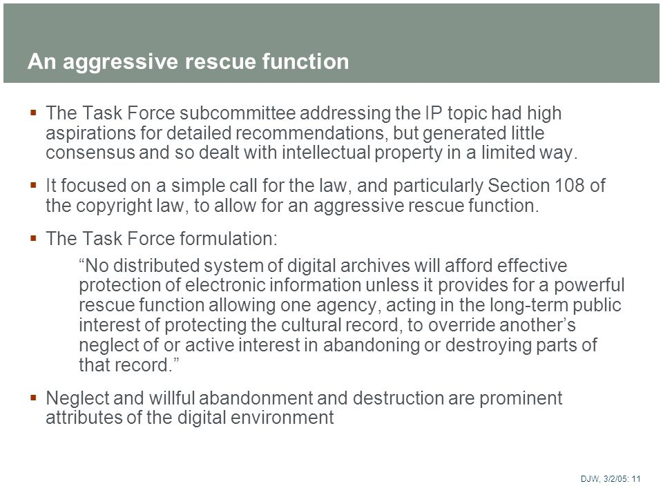 An aggressive rescue function