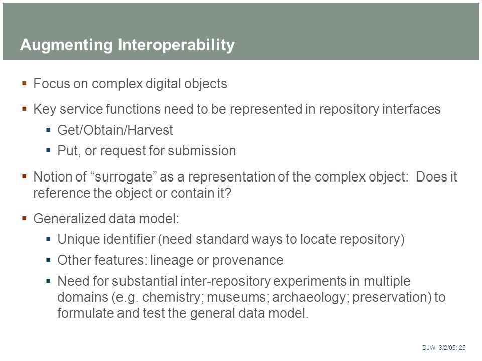 Augmenting Interoperability
