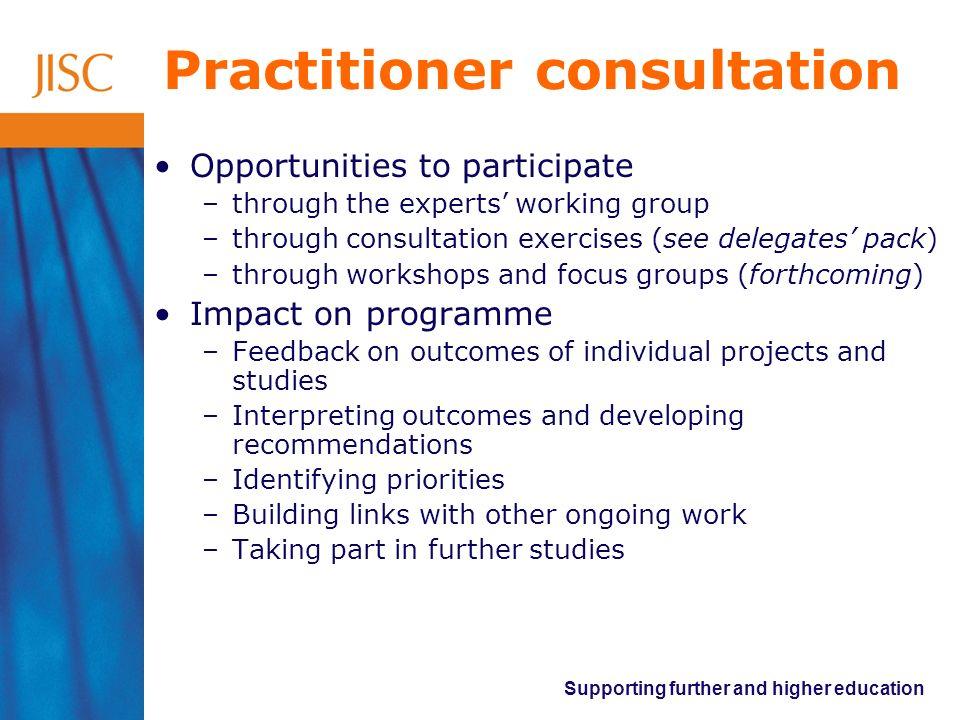 Practitioner consultation