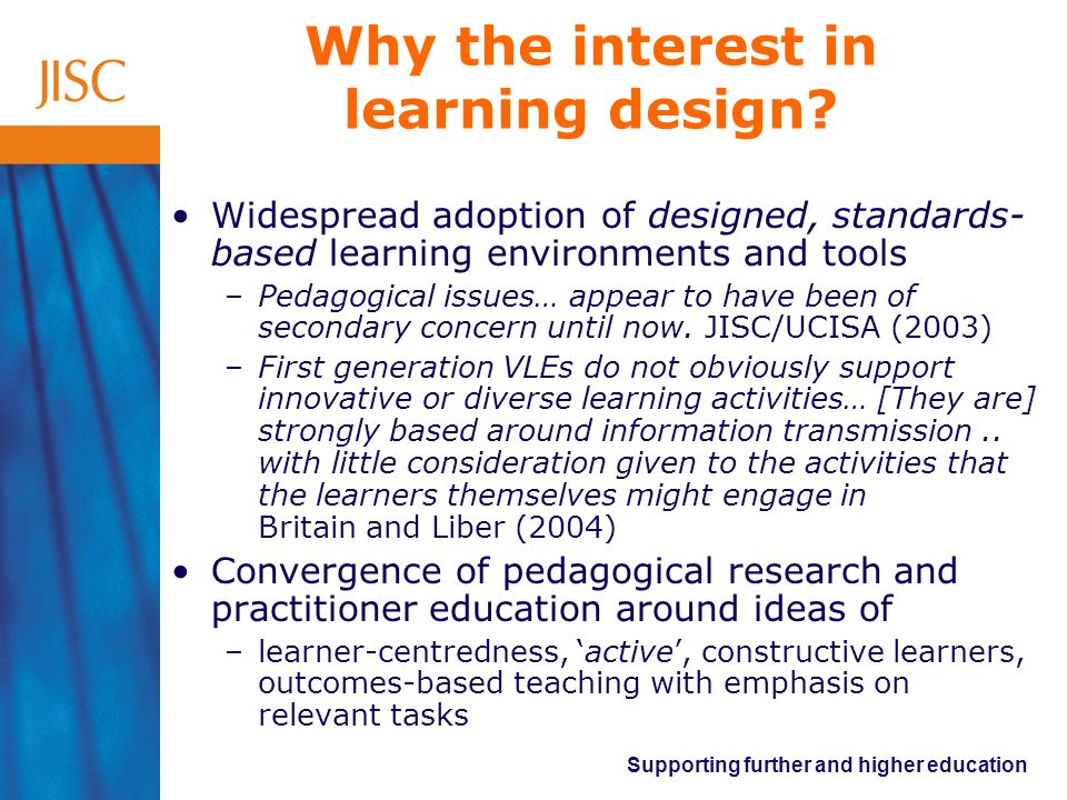 Why the interest in learning design