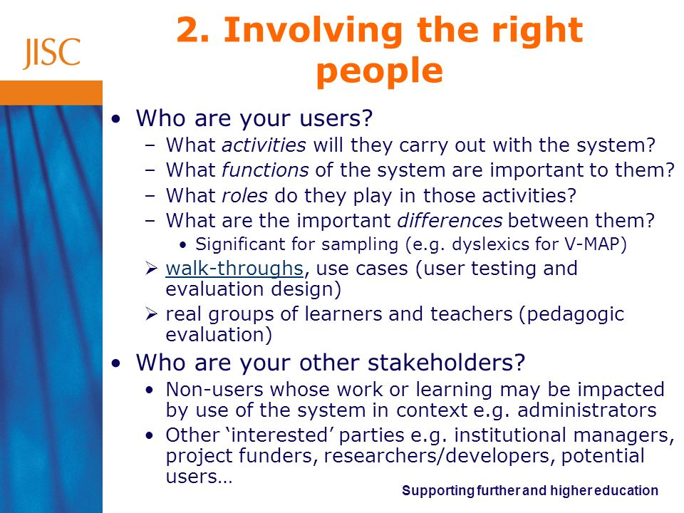 2. Involving the right people