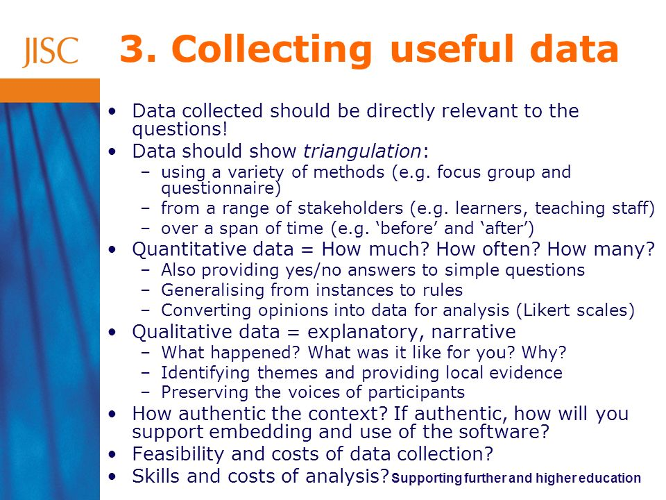 3. Collecting useful data