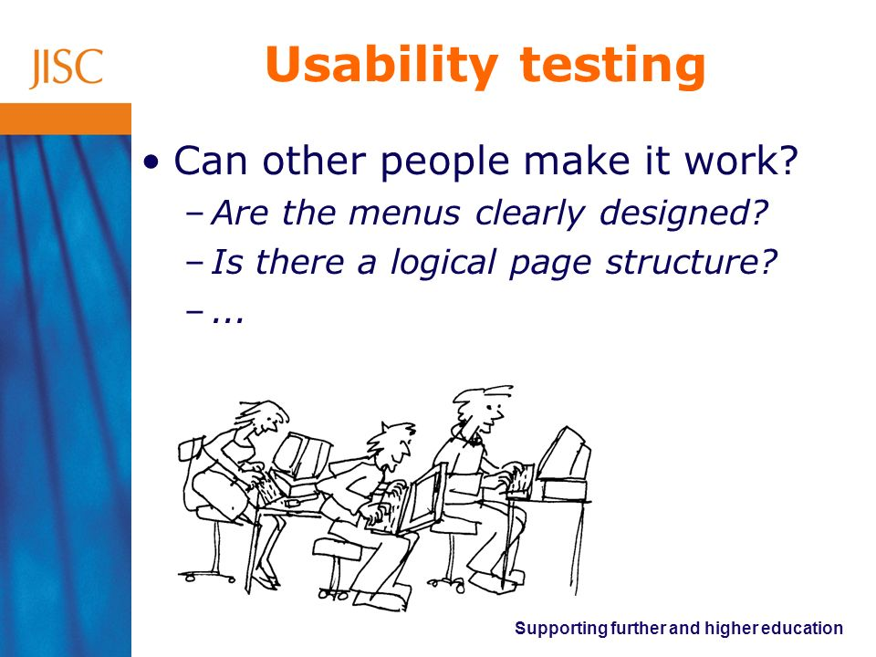Usability testing Can other people make it work