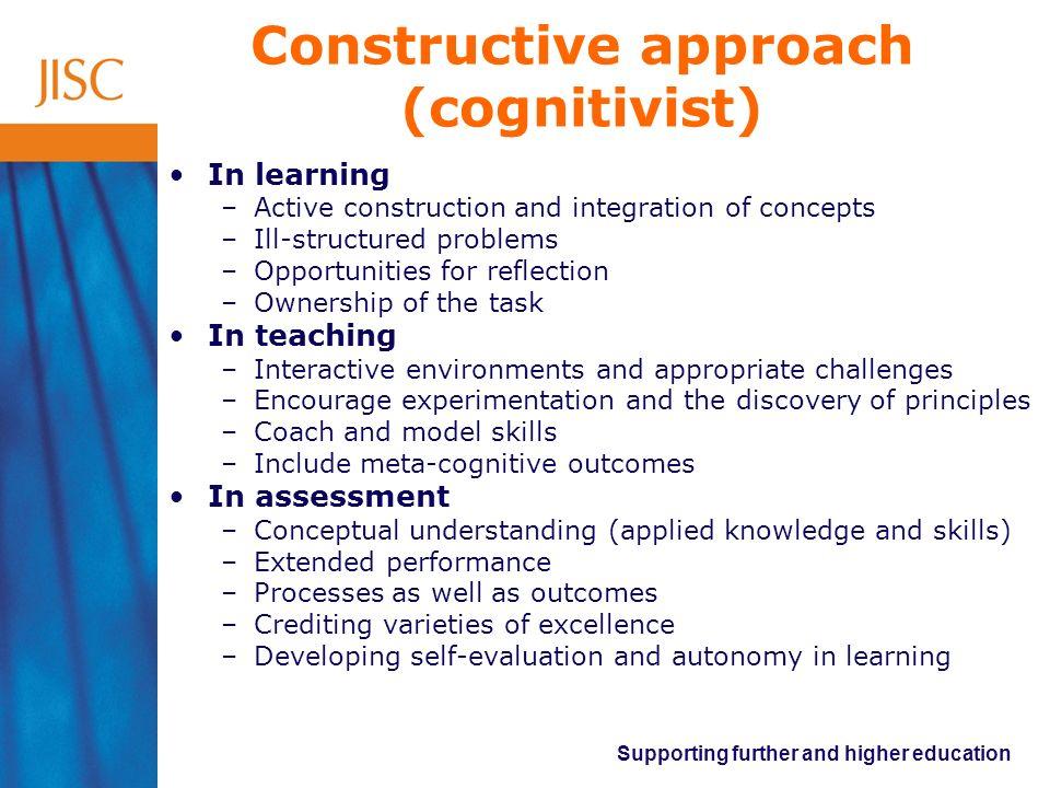 Constructive approach (cognitivist)