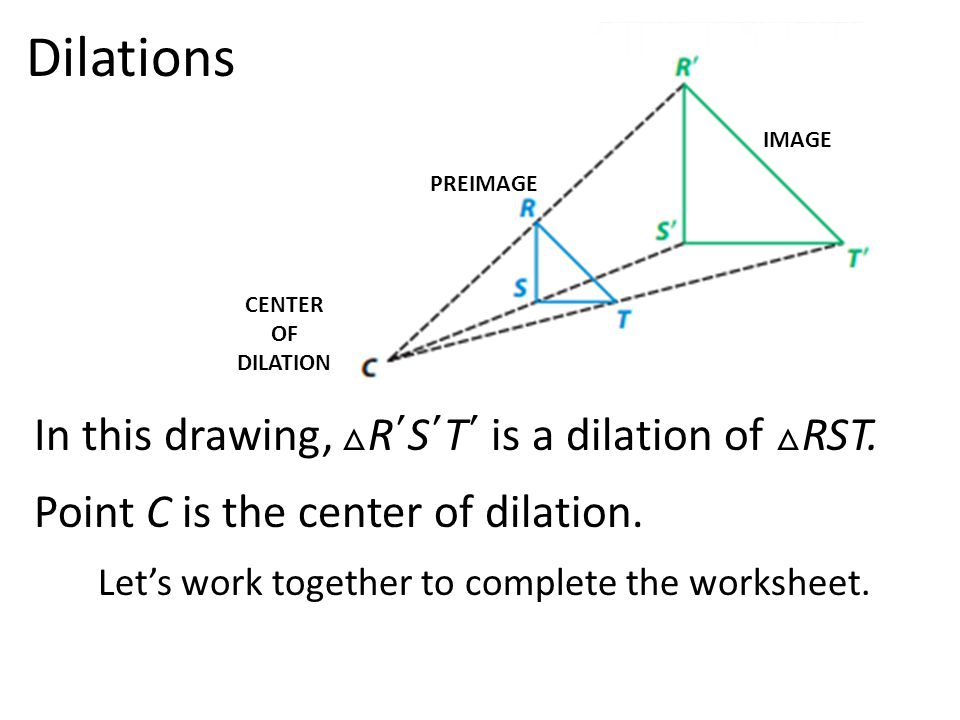 Properties of Dilations ppt download – Geometry Dilations Worksheet