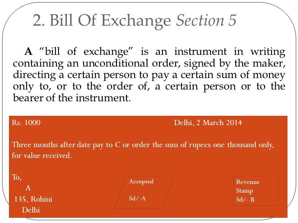 Negotiable instrument act ppt video online download bill of exchange section 5 altavistaventures Images