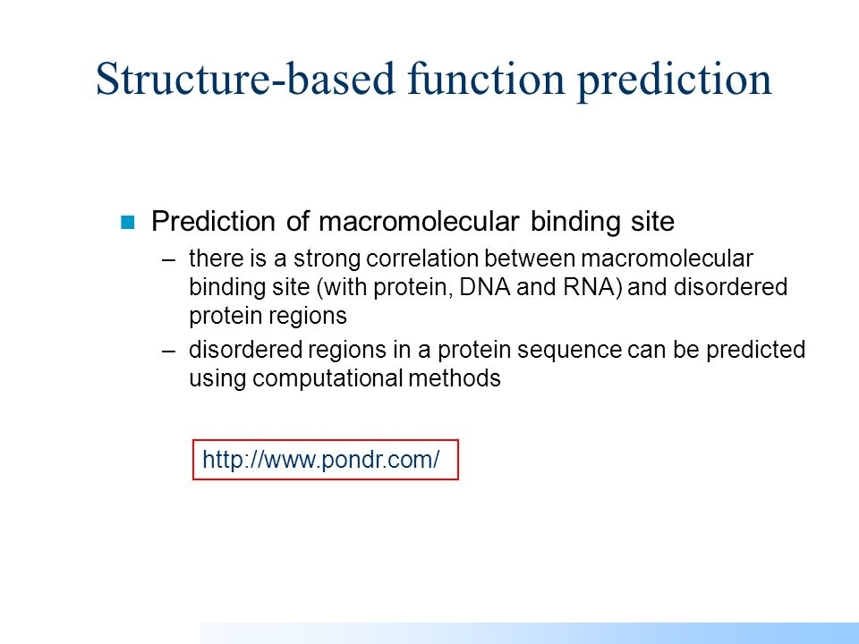 the sequence structure relationship and protein function prediction