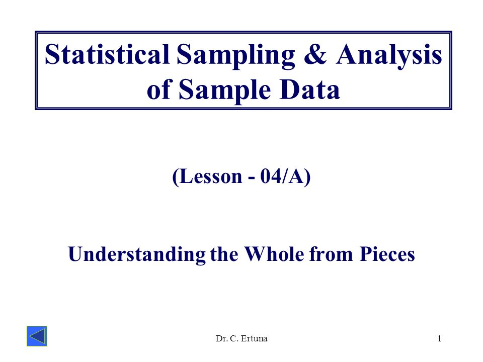 Statistical Sampling  Analysis Of Sample Data  Ppt Video Online