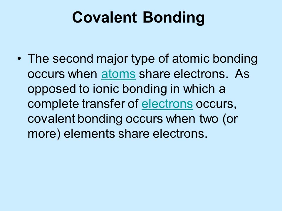 Chemical Bonding & the formation of Compounds - ppt download