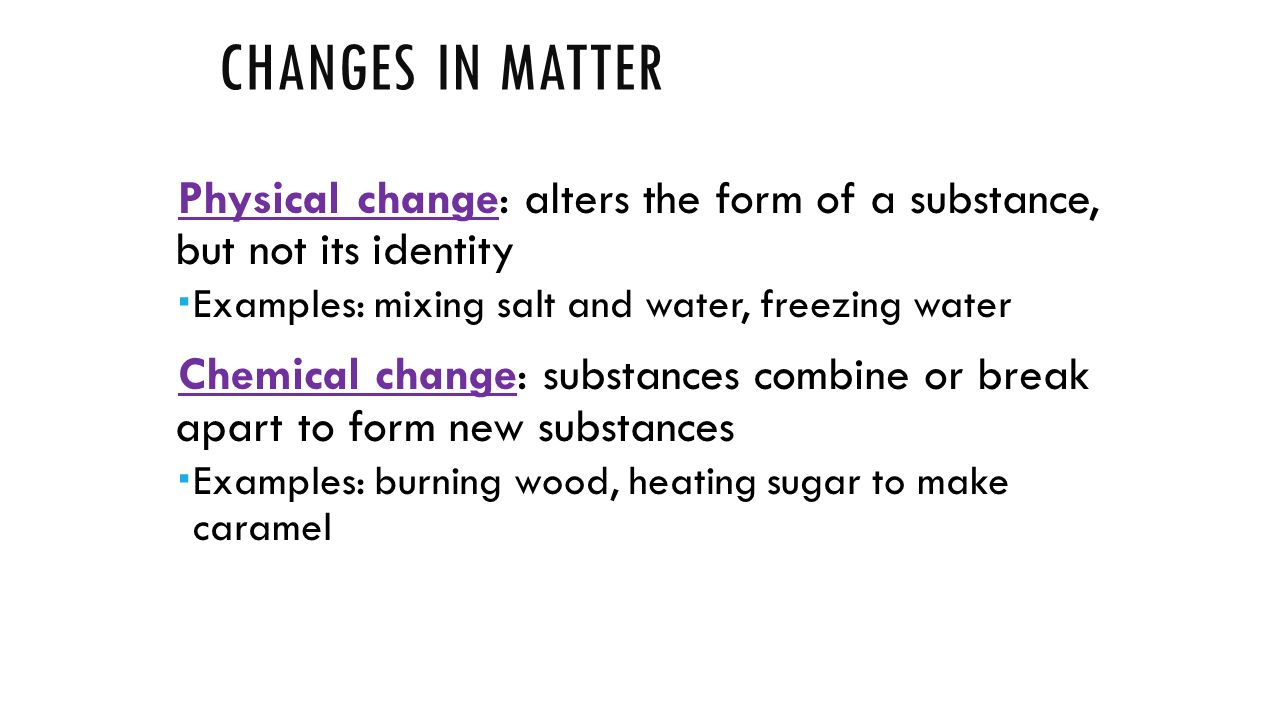 Sugar Clipart Physical Change Example Water Purifier Tester Diagram