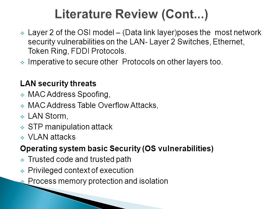 literature review of network security It provides a review of the literature on private security, including major trends, demographics, collaborations with law enforcement, budgeting and licensing.