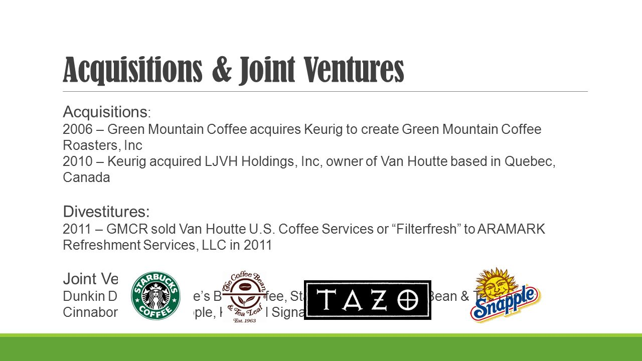 Green Mountain Coffee Roasters,Inc & Keurig Coffee - ppt download