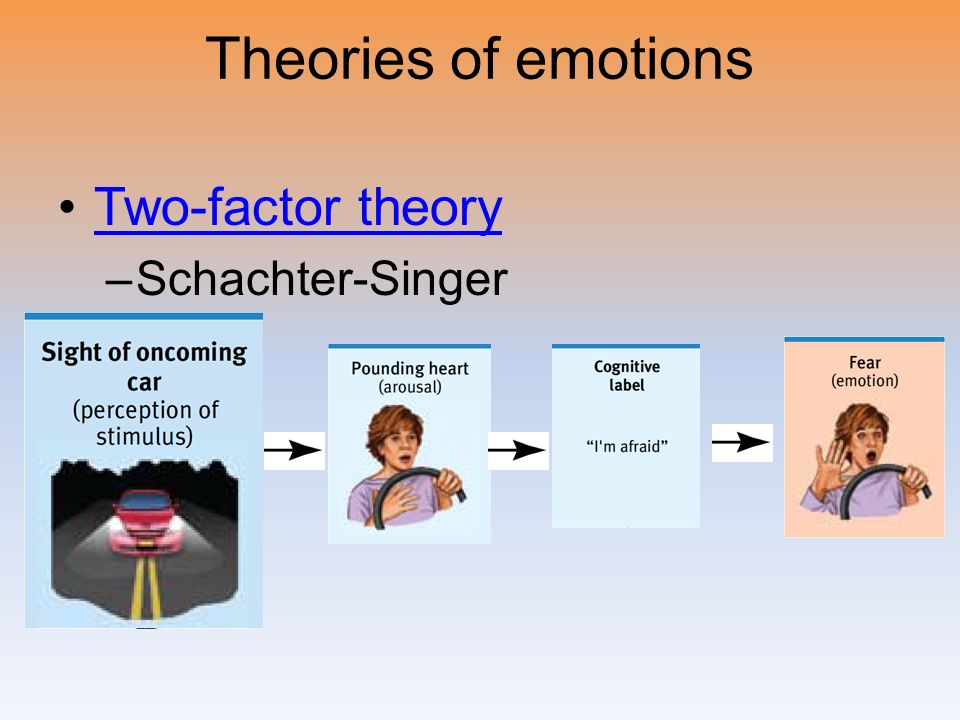 critic of schachter singer emotion theory The two-factor theory of emotion asserts that the  (schachter & singer, 1962): [16] emotion = arousal + cognition  malone 2009 pg 478 tolman was a huge critic .