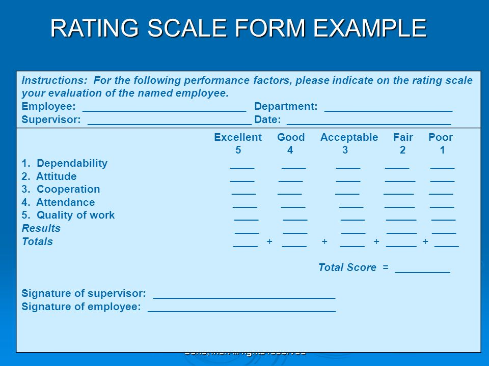 performance quality rating scale pdf