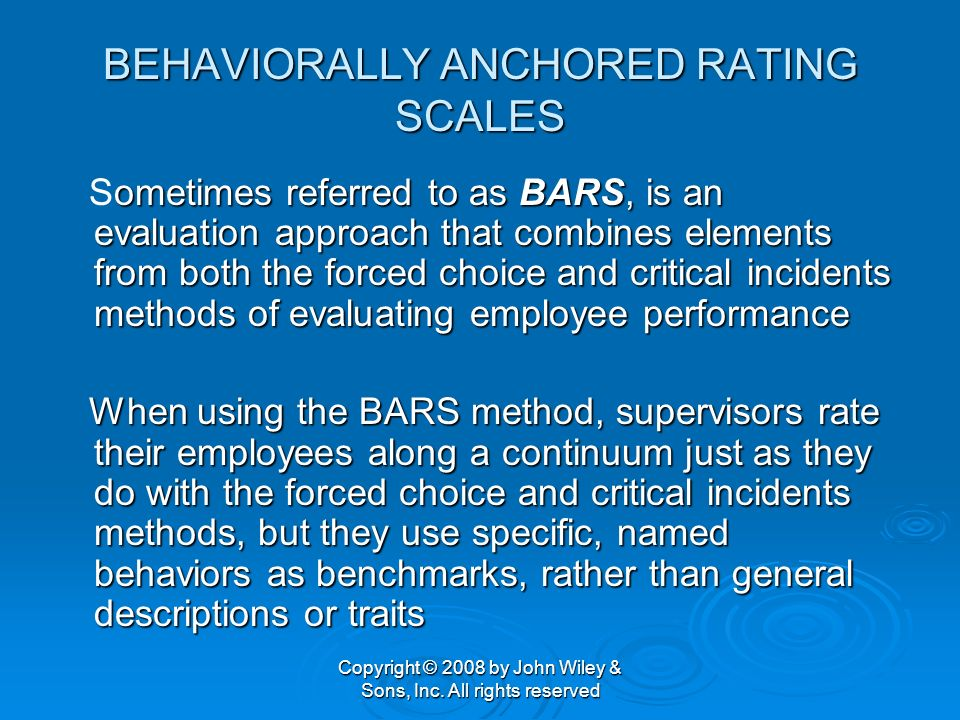 behaviorally anchored rating scale pdf