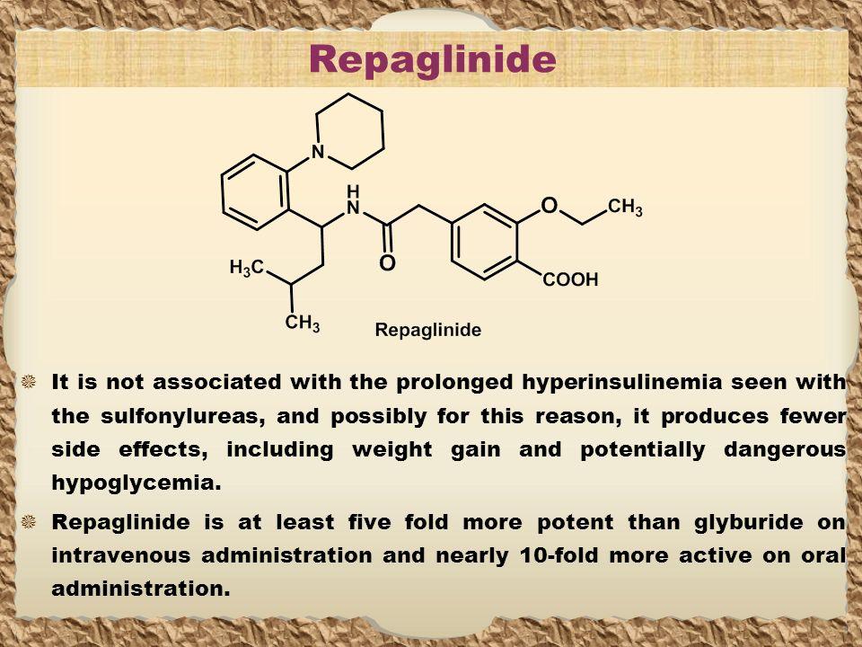 Repaglinide Prandin Side Effects