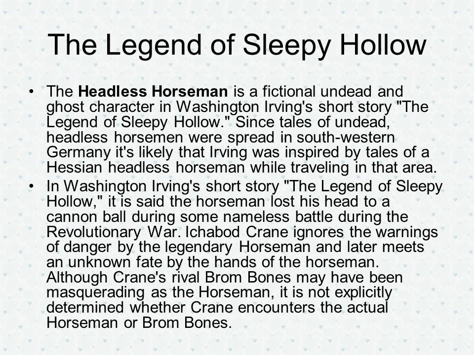 sleepy hollow film versus book Sleepy hollow book vs movie the legend of sleepy hollow is a short story written by washington irving in the early 1800's in comparison sleepy.