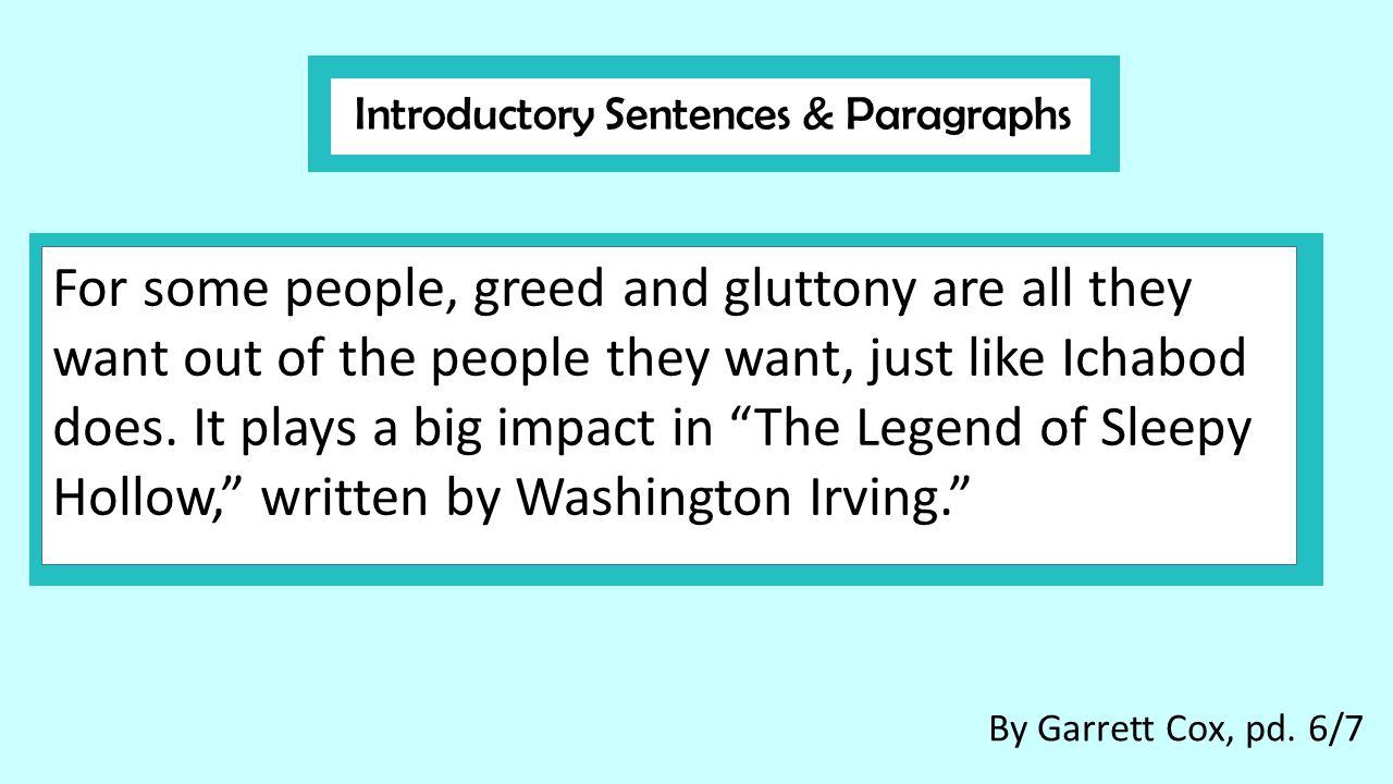 Gluttony essay