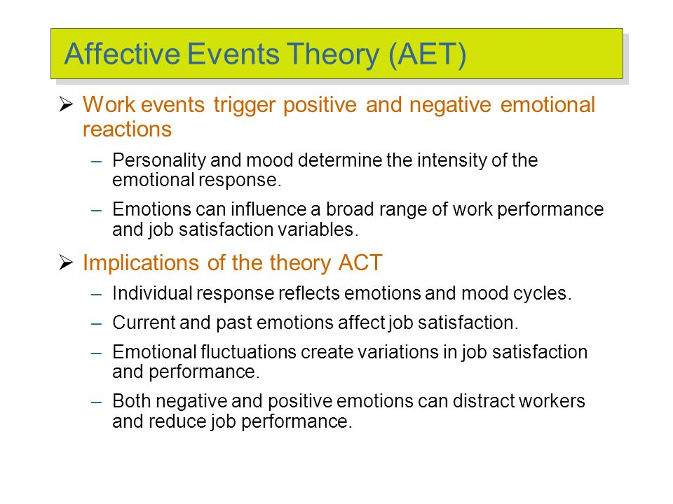 Affective Events Theory (AET)
