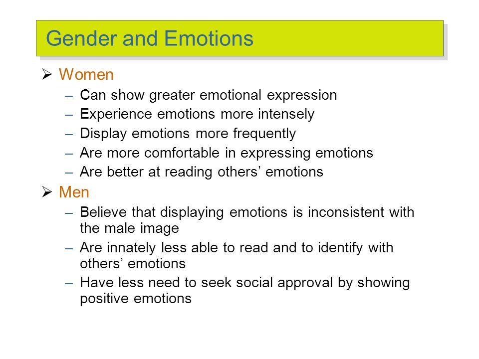 External Constraints on Emotions